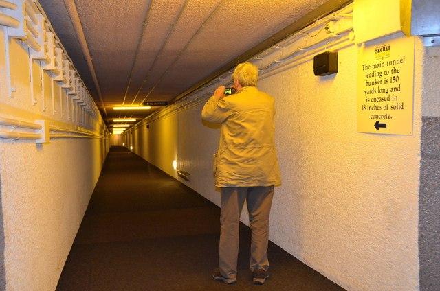 Entrance tunnel to the Secret Bunker