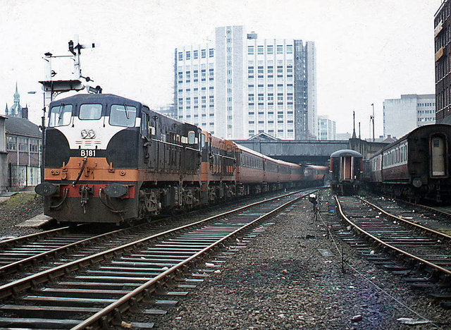Dublin train - No. 2 Platform - 1975