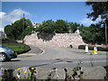 SX9373 : Retaining wall, Coombe Vale Road by Robin Stott