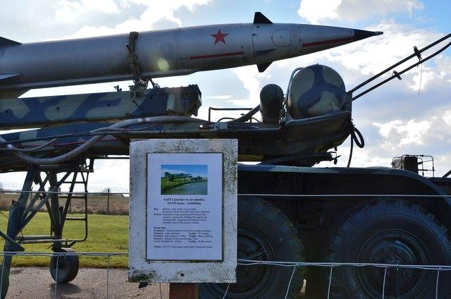 SAM 2 missile on display, Secret Bunker