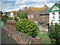 SX9373 : Houses, south end of Fourth Avenue, east side, Teignmouth by Robin Stott