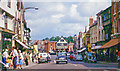 SO7137 : Ledbury: northwards on High Street to Market Hall, 1963 by Ben Brooksbank