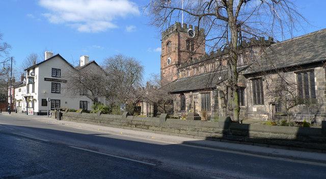 St. Mary's Church on the High Street, Cheadle