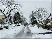 SO9096 : Late snow in Penn, Wolverhampton by Roger  Kidd