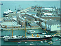 SU6200 : HMS Warrior seen from the Spinnaker Tower, Portsmouth by Graham Robson