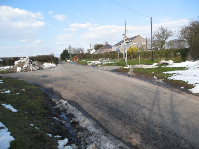 Cross roads near Llanasa