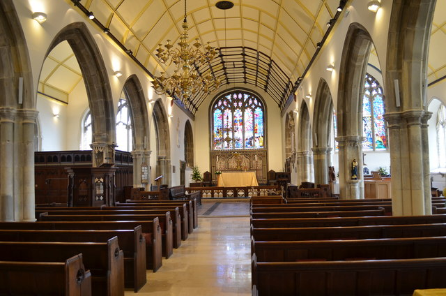 Interior, St Clement's church, Hastings