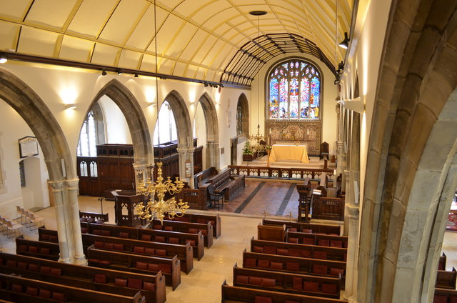 Nave and north aisle, St Clement's church, Hastings