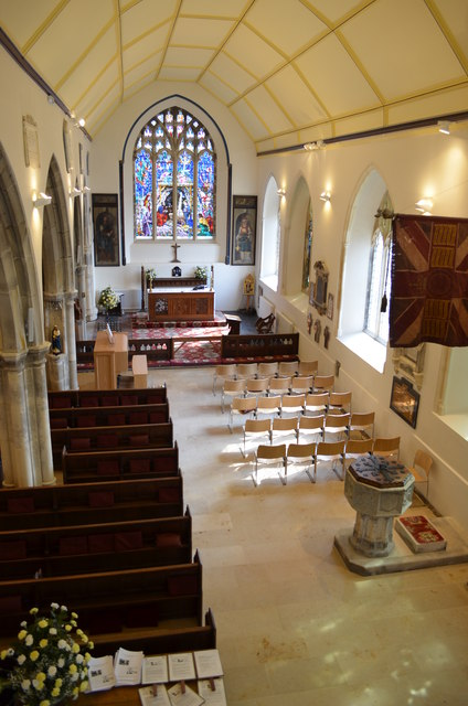South aisle and chapel, St Clement's church, Hastings