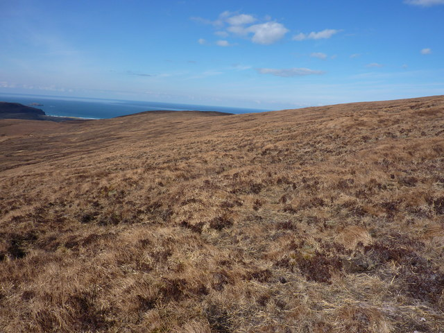 On  the NW shoulder of An Grianan