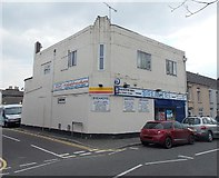 SS8983 : Breakers corner shop and off-license, Aberkenfig by Jaggery