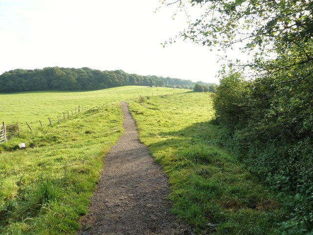 The path from the River Lostock to Watkin Road