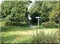 SD5721 : Signpost in Cuerden Valley by Ann Cook