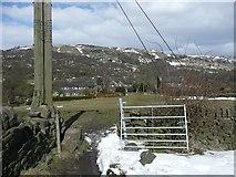 SE0026 : Gate on Hebden Royd Footpath 47 by Humphrey Bolton