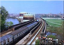 SJ3965 : Chester railway viaduct by Dennis Turner