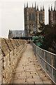 SK9771 : Castle walls by Richard Croft