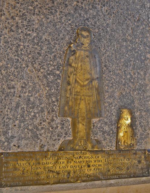 Brass to John Barley & Family, St Clement's church