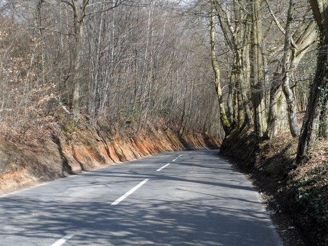 Steep hill near Dean Wood