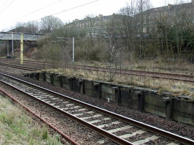 Old platform at Rutherglen station