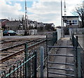 SN4006 : Gate and signalbox, Kidwelly by Jaggery