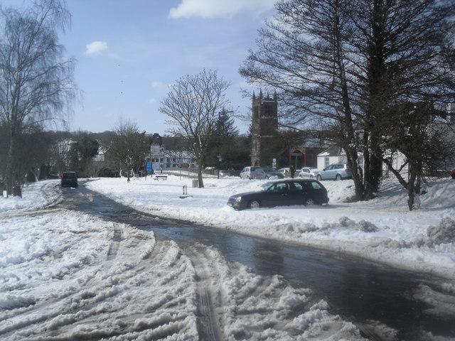 Gatehouse of Fleet in the snow