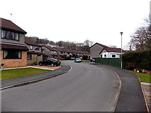 SS8983 : Riverside houses, Aberkenfig by Jaggery