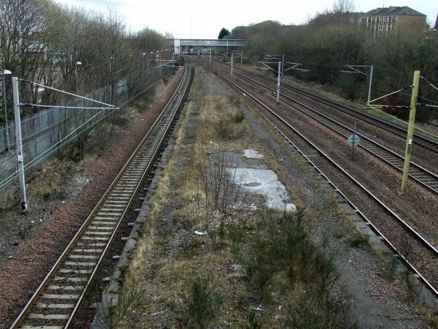 Railway near Rutherglen station