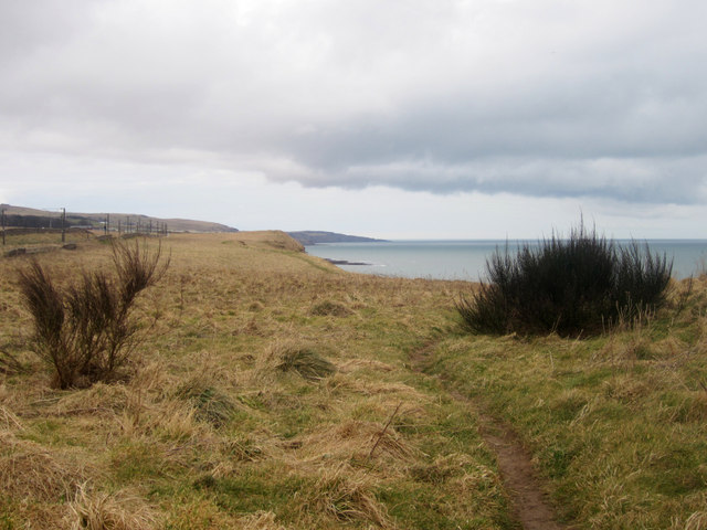Cliff top public footpath