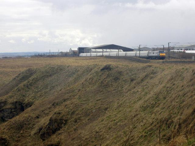 East Coast Train north of Berwick-upon-Tweed