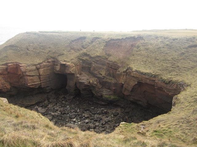Erosion at Brotherston's Hole, Berwick-upon-Tweed