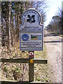 TM4669 : National Trust sign at Mount Pleasant Farm by Adrian Cable