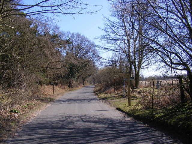 Minsmere Road & footpath & Bridleway