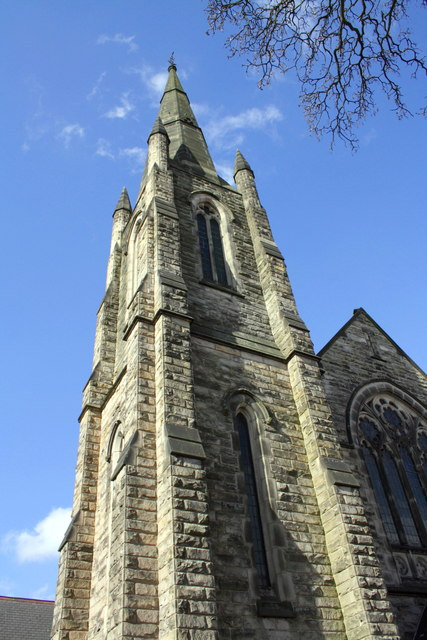 The tower and spire of West Bridgford Baptist Church