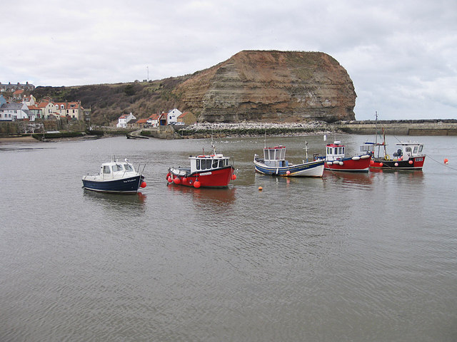 Anchored in the harbour, Staithes