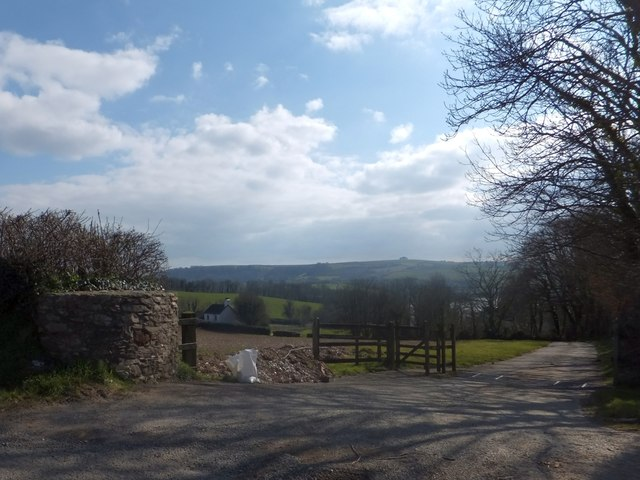 The drive to Sandridge Barton