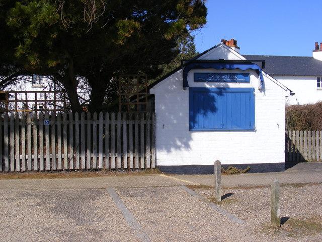 Coastguard kiosk on Dunwich Heath
