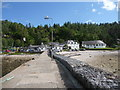 NM9045 : Port Appin: view inland along the pier by Chris Downer
