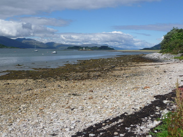 Port Appin: the beach
