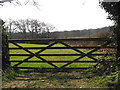TQ3827 : Five-bar gate on Wyatts Lane by Stephen Craven