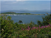 NM8529 : Oban: view from Pulpit Hill over Kerrera by Chris Downer