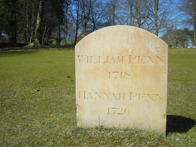 William Penn's gravestone