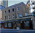 TQ3779 : Derelict public house, Millwall by Julian Osley