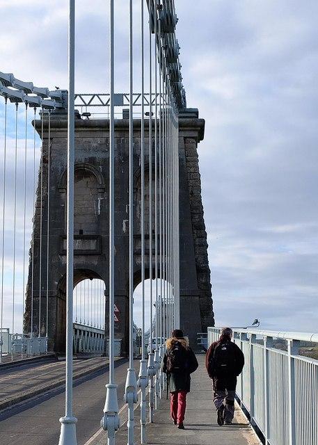 Footpath on the Menai Bridge