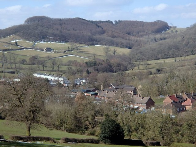 Houses and hillside south of Wirksworth