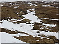 NN2524 : Snow filled burn course on the lower slopes of Beinn a' Chleibh by John Ferguson