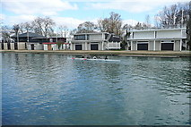 SP5105 : Oxford boat houses by Graham Horn