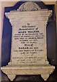 NY5002 : Miles Walker memorial plaque, St Mary's Church, Longsleddale by Karl and Ali