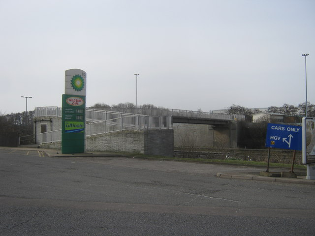 Footbridge over the M1 at Watford Gap Services