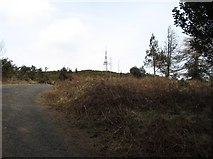 J3630 : Climbing the access road to the Drinnahilly Transmitter by Eric Jones