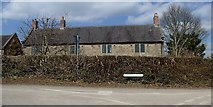 SK2750 : Topshill Lane and farm by Andrew Hill
